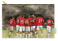 Manchester United  In Action  Carry-all Pouch by Don Kuing
