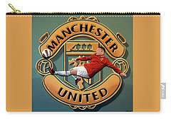 Manchester United Painting Carry-all Pouch by Paul Meijering