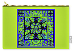 Carry-all Pouch featuring the digital art Mandala #22 by Loko Suederdiek
