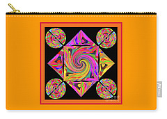 Carry-all Pouch featuring the digital art Mandala #50 by Loko Suederdiek