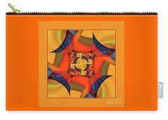 Carry-all Pouch featuring the digital art Mandala #56 by Loko Suederdiek