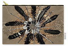 Mandala Arrow Feathers Carry-all Pouch