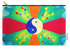 Mandala Carry-all Pouch by Denise Fulmer