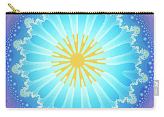 Carry-all Pouch featuring the digital art Mandala by Jutta Maria Pusl