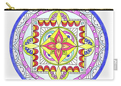 Carry-all Pouch featuring the photograph Mandala by Marilyn Hunt