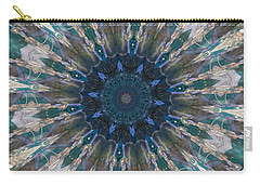 Mandala Of Blue Glass Carry-all Pouch