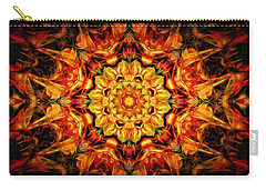 Mandala Of The Sun In A Dark Kingdom Carry-all Pouch by Anton Kalinichev