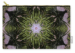 Carry-all Pouch featuring the digital art Mandala Sea Sponge by Nancy Griswold