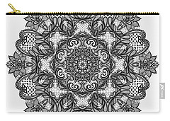 Carry-all Pouch featuring the digital art Mandala To Color 2 by Mo T