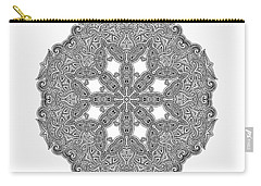 Carry-all Pouch featuring the digital art Mandala To Color by Mo T