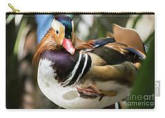 Mandarin Duck Raising One Foot. Carry-all Pouch