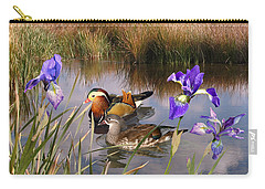 Mandarin Ducks And Wild Iris Carry-all Pouch