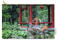 Mandarin Ducks At Pavilion Carry-all Pouch
