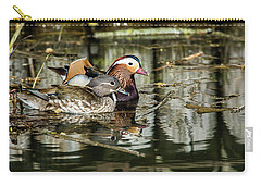 Mandarin Ducks The Couple Carry-all Pouch by Torbjorn Swenelius