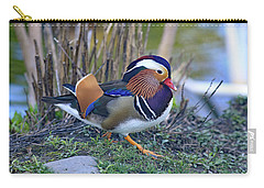 Mandarin On The Move Carry-all Pouch by Lynn Hopwood