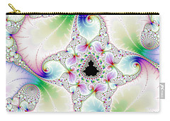 Mandebrot In Pastel Fractal Wonderland Carry-all Pouch by Matthias Hauser