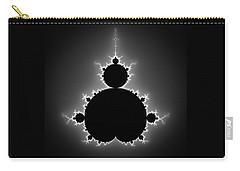Mandelbrot Set Black And White Fractal Art Carry-all Pouch