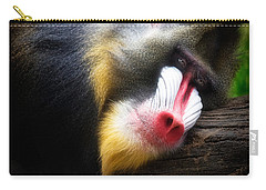 Mandrill Baboon Carry-all Pouch