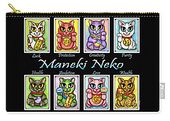 Maneki Neko Luck Cats Carry-all Pouch