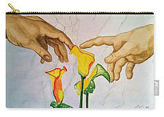 Man, God...and Calla Lilies Carry-all Pouch by Rand Swift
