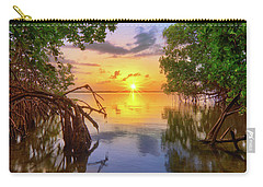 Mangrove Sunset From Jensen Beach Florida Carry-all Pouch by Justin Kelefas