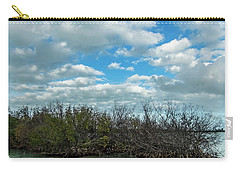 Carry-all Pouch featuring the photograph Mangroves In Key West Damaged By The Storm by Bob Slitzan