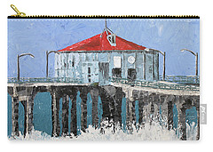 Manhattan Beach Pier Carry-all Pouch by Lance Headlee