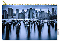 Carry-all Pouch featuring the photograph Manhattan Blues by Chris Lord