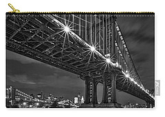 Manhattan Bridge Frames The Brooklyn Bridge Carry-all Pouch