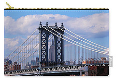 Manhattan Bridge Framing The Empire State Building Carry-all Pouch
