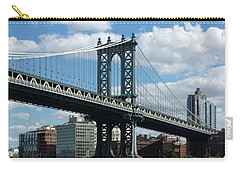 Manhattan Bridge In Blue Carry-all Pouch