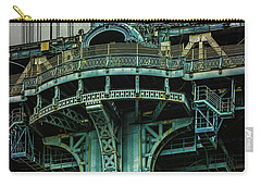 Carry-all Pouch featuring the photograph Manhattan Bridge Tower by Chris Lord