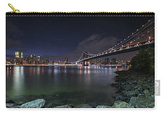 Manhattan Bridge Twinkles At Night Carry-all Pouch