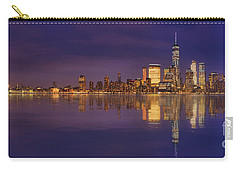 Manhattan, New York At Dusk Panoramic View Carry-all Pouch