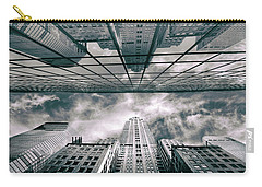 Carry-all Pouch featuring the photograph Manhattan Reflections by Jessica Jenney