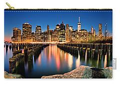Manhattan Skyline At Dusk Carry-all Pouch