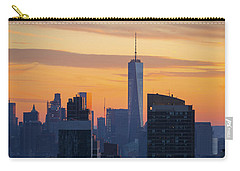 Manhattan Skyline At Dusk Carry-all Pouch by Diane Diederich