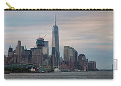 Manhattan Skyline At Twilight I Carry-all Pouch by Marianne Campolongo