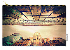 Carry-all Pouch featuring the photograph Manhattan Skyline Reflections by Jessica Jenney