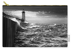 Carry-all Pouch featuring the photograph Manistee Pierhead Lighthouse by Fran Riley