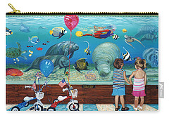 Manitee Aquarium With My Twins Carry-all Pouch