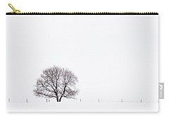 Carry-all Pouch featuring the photograph Manitoba Winter by Yvette Van Teeffelen