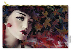 mannequin photographs - Woman with Red Boa Carry-all Pouch