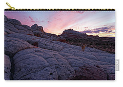 Man's Best Friend Sunset Carry-all Pouch by Jonathan Davison