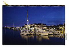 Manteo Waterfront Marina At Night Carry-all Pouch