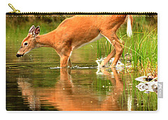 Carry-all Pouch featuring the photograph Eating Off The Bottom Of Fishercap by Adam Jewell