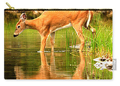 Carry-all Pouch featuring the photograph Foraging In Fishercap by Adam Jewell