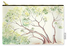 Carry-all Pouch featuring the painting Manzanita Tree by Maria Langgle