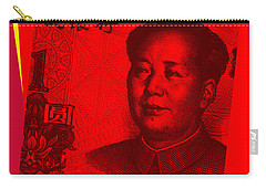 Carry-all Pouch featuring the digital art Mao Zedong Pop Art - One Yuan Banknote by Jean luc Comperat