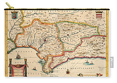 Map Of Andalusia 1650 Carry-all Pouch by Andrew Fare